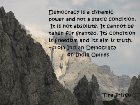 Indian Democracy on India Opines